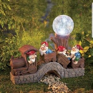 Train with Gnomes and Solar Light